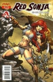Red Sonja #26 Ron Adrian Fiery Red Foil Variant Ltd 275 COA